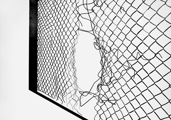 «Orte 19», Farbstift auf Papier, 90.5x128cm, 2014