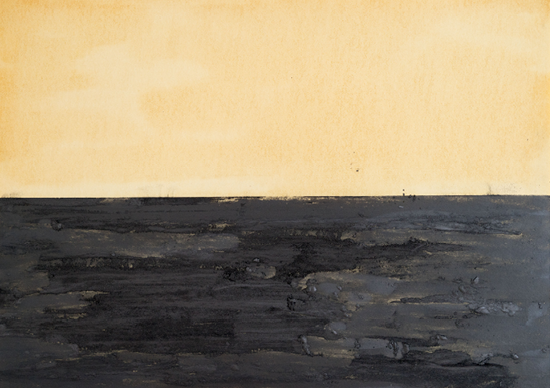 «Ortung»Öl, Graphit auf Papier,46 x 65 cm, 2005