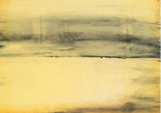 «Ortung L03»Leinöl, Graphit auf Papier,46 x 65 cm, 2005